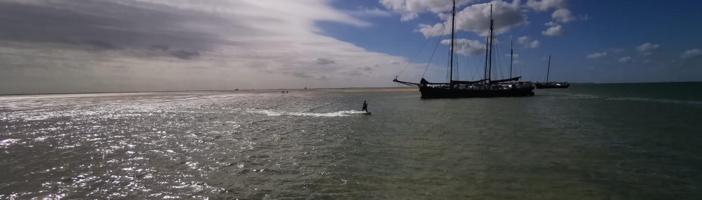 zeilen en kitesurfen